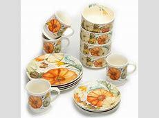 Mainstays 16 Piece Pumpkins Dinnerware Set Just $19.99