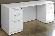 white credenza white u shaped workstation w hutch