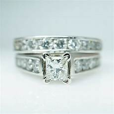 sale vintage platinum diamond engagement ring wedding band complete bridal set ebay