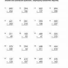 subtraction exchange worksheets 10070 3 digit subtraction worksheets some regrouping
