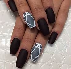 45 beautiful black matte nail art designs