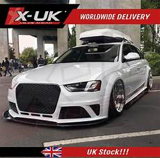 rs4 style front grill black and chrome for audi a4 s4 b8 5 2013 2015