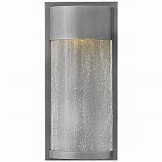 hinkley shelter 12 quot high led hematite outdoor wall light 1r448 ls plus