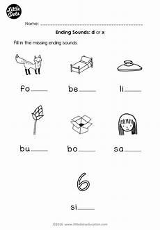 letter e beginning sounds worksheets 24099 free phonics ending sounds d or x worksheet for preschool or kindergarten class phonics free