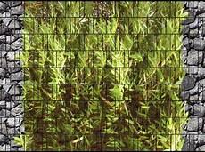 Bambus Bruchstein Doppelstabmatten Sichtschutzstreifen