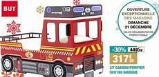 lit pompier but bon plan 30 sur le lit camion de pompier pour enfant