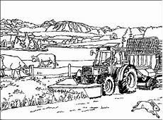 Malvorlagen Bauernhof Traktor Bauernhof 7 Ausmalbilder Kostenlos