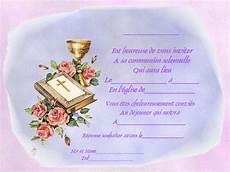 carte invitation communion communion solennelle