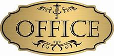 gold quot office quot door sign wall plaque nautical boat free shipping ebay