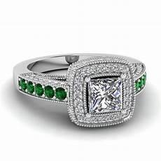 princess cut traditional square halo diamond engagement