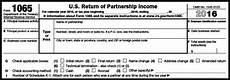 how to complete form 1065 us return of partnership income