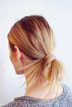pretty and simple long hairstyle tied back messy pony bun hair in 2019 hair styles hair