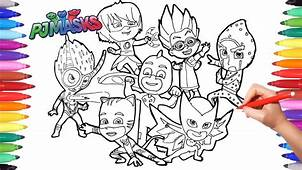 PJ MASKS Coloring Book  Drawing And Masks For