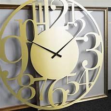 Uhr Malvorlagen Xl Wanduhr Alu Dibond Goldeffekt Modern 216 70 Cm Uhr