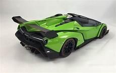 kyosho 1 lamborghini veneno roadster in green line diecast closed car diecast