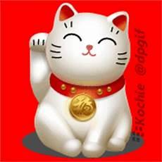 Animasi Terbaru Kucing Hoki Pemanggil Rezeki Dp Bbm Terbaru