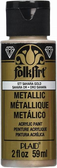 com folkart metallic acrylic paint in assorted colors 2 oz 658 gold in 2020