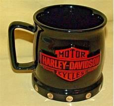 Harley Davidson Mugs by Harley Davidson Mug Black Orange Silver Rivets Graphic