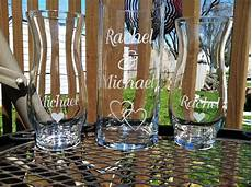 etched glass personalized sand ceremony unity vases