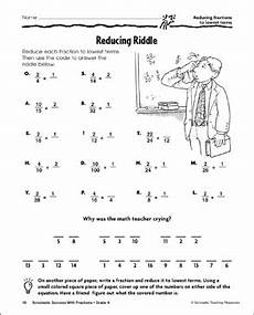 fraction riddle worksheets 4079 reducing riddle reducing fractions to lowest terms printable skills sheets and number puzzles