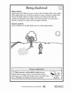 science worksheets light and shadows 12279 1st grade 2nd grade kindergarten science worksheets being shadowed greatschools