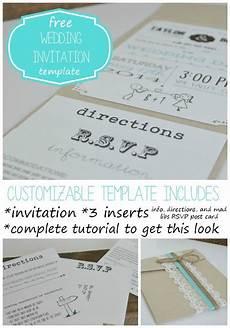 customizable wedding invitation template with inserts free wedding invitation templates diy