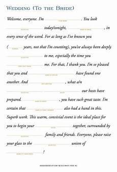 Wedding Toast Speech Ideas