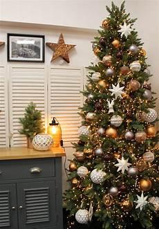 copper grey brown and white tree design idea
