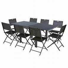 table de jardin extensible 8 personnes piazza l 90 180