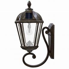 gama sonic royal bulb series 1 light weathered bronze outdoor integrated led solar wall