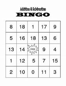 addition bingo worksheets 8794 addition and subtration bingo 20 cards by montessori mac tpt