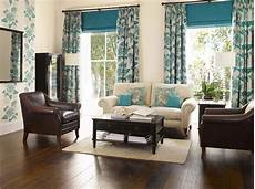 Winners White Walls Brown Blue Living Room
