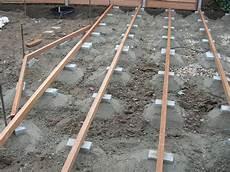 Unterkonstruktion Holzterrasse Traumgarten
