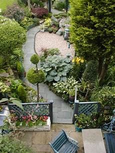 Narrow Garden Design Curved Pathways Add Interest To A
