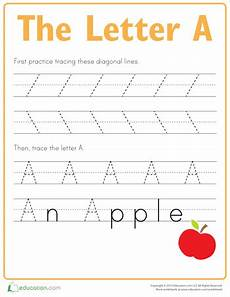 practice tracing the letter a ellie s abc s preschool