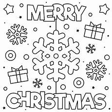 merry coloring page black and white vector