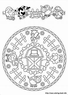 mandala farm coloring coloring pages