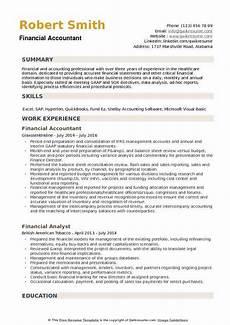financial accountant resume sles qwikresume