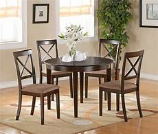 5pc set round dinette kitchen table w 4 microfiber