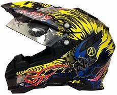 motorradhelm mit verspiegeltem visier motorradhelm mx enduro helm schwarz gelb mit visier