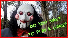 jigsaw movie billy the puppet skit funny halloween spoof youtube