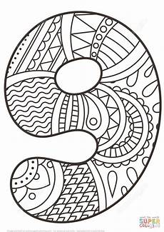 mandala coloring pages by numbers 17867 number 9 zentangle coloring page free printable coloring pages