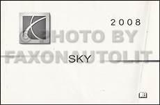 car repair manuals online free 2008 saturn sky parking system 2008 saturn sky owner s manual original