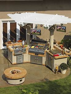 outdoor kitchen island designs optimizing an outdoor kitchen layout hgtv
