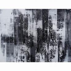 Peinture Design Tableau Abstrait Contemporain Blanc Noir