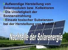 vor und nachteile solarenergie solarenergie nachteile