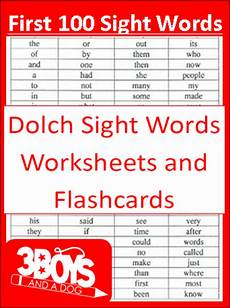 free 100 first dolch sight word printables