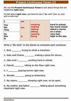 esl grammar present continuous tense practice