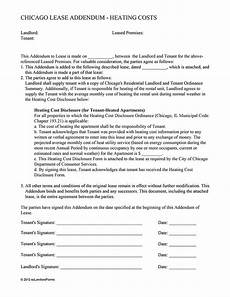 chicago lease addendum heating costs ez landlord forms