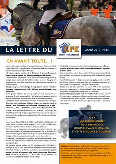 lettre chevaux 2016 lettre gfe 2016 by gfe groupe elevage issuu
